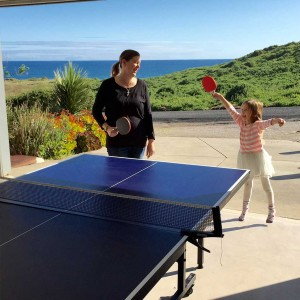 Family table tennis fun