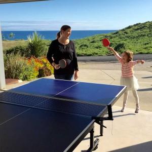 Family table tennis fun